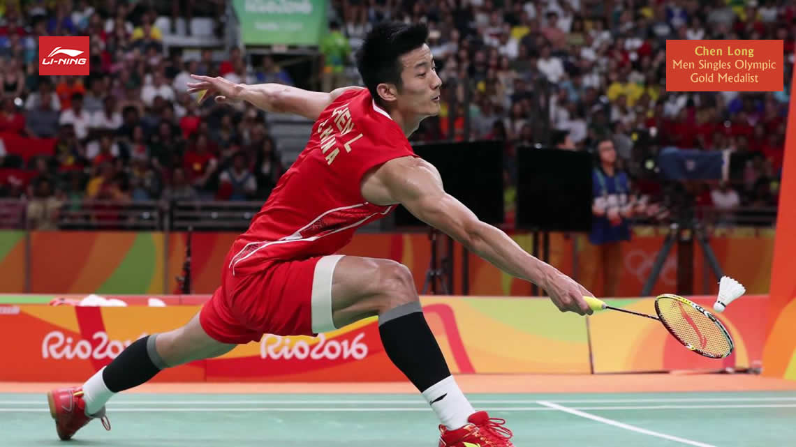 Li-Ning Flame N55 badminton racket used by 2016 Olympic Gold Medalist Chen Long