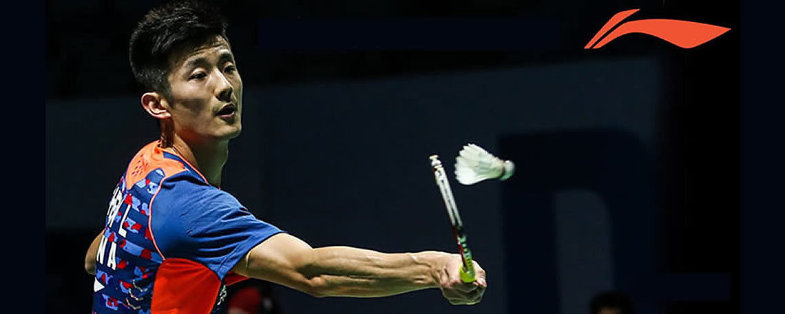 Chen Long using Li-Ning Flame N55 badminton racket