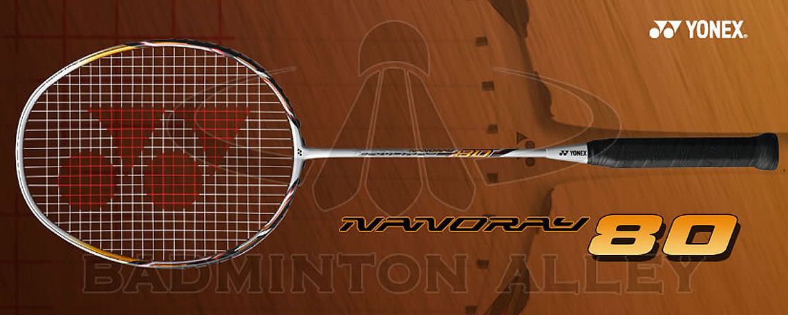 Yonex Nanoray 80 White Orange Badminton Racket