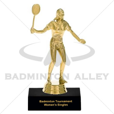 Trophy Female Badminton Player - 01