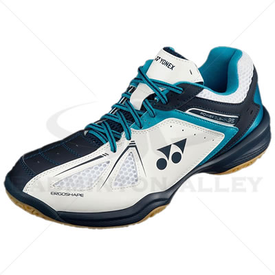 Yonex Power Cushion SHB-35EX White Sky Blue Badminton Shoes