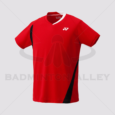 Yonex 10177EX Men Crew Neck Shirt (Color: Sunset Red)
