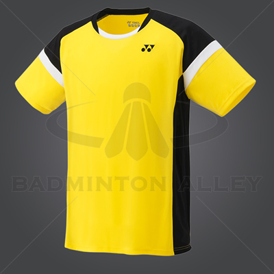 Yonex YM001EX Men Crew Neck Shirt (Color: Light Yellow)