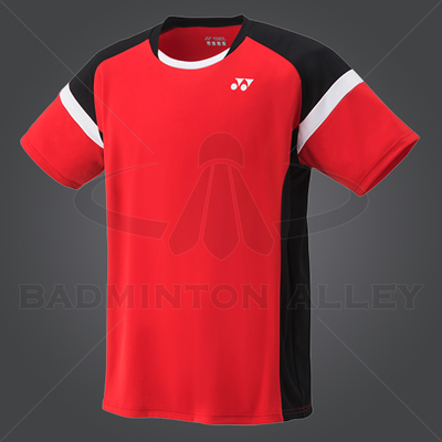Yonex YM001EX Men Crew Neck Shirt (Color: Sunset Red)