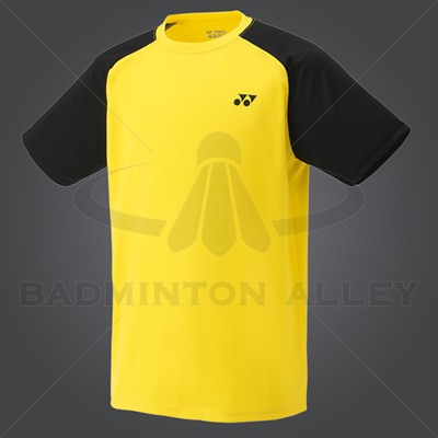 Yonex YM003EX Men Crew Neck Shirt (Color: Light Yellow)