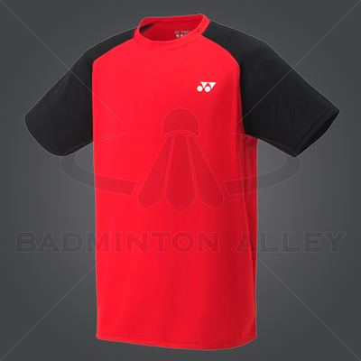 Yonex YM003EX Men Crew Neck Shirt (Color: Sunset Red)